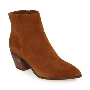 VINCE CAMUTO Leather Ankle Boots Brown Booties 8.5